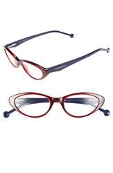 Women's Jonathan Adler '801' 50Mm Cat Eye Reading Glasses Burgundy