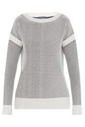 Vince 2 Color Jacquard Sweater