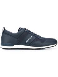 Tommy Hilfiger Lace Up Sneakers Men Calf Leather Leather Rubber 44 Blue