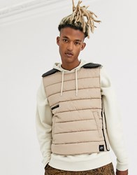 Sixth June Pull Over Utility Vest In Beige