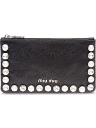 Miu Miu Madras Envelope Pouch Black