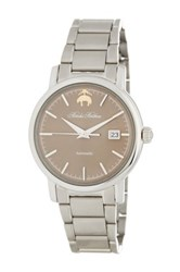 Brooks Brothers Men's Premium Collection Automatic Bracelet Watch Metallic