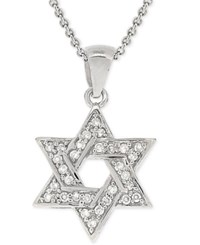 Giani Bernini Cubic Zirconia Star Of David Pendant Necklace In Sterling Silver Only At Macy's