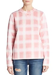 Marc By Marc Jacobs Blurred Gingham Sweatshirt Piggy Pink