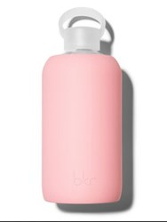 Bkr Opaque Fluorescent Pastel Coral Glass Water Bottle 16 Oz.