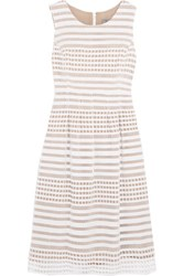 Lela Rose Felicia Cutout Cotton And Silk Dress White