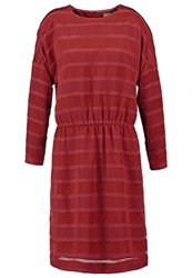 Whyred Demi Devore Summer Dress Oxblood Red Dark Red