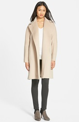 Fleurette Piacenza Wool Clutch Coat Buff