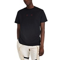 Alyx Abstract Flag Cotton T Shirt Black