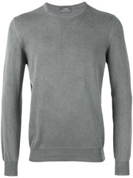 Barba Long Sleeve Sweater Men Cotton 50 Grey