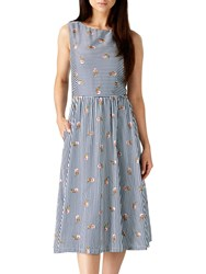 Sugarhill Boutique Lois Stripe And Floral Dress Navy White