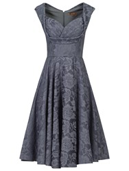 Jolie Moi Crossover Bust Ruched Prom Dress Grey