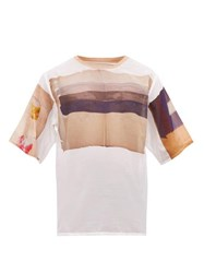 Bless Abstract Print Cotton Blend T Shirt Multi