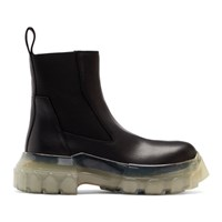 Rick Owens Black Shearling Ankle Boots