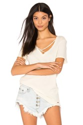 N Philanthropy Robbie V Neck Tee Cream