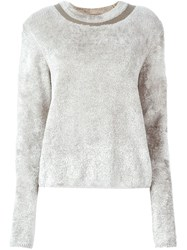 Maison Martin Margiela Textured Sweater Nude And Neutrals