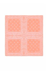 Forever 21 Paisley Square Scarf Peach White