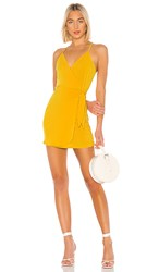 Bcbgeneration Wrap Front Dress In Yellow. Pineapple