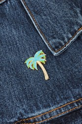 Skinnydip Palm Enamel Pin By Multi