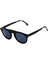 Retro Super Future 'Flat Top Ghost Rider' Sunglasses Black