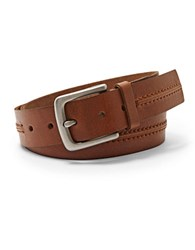 Fossil Theo Leather Belt Tan