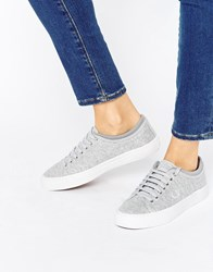 Fred Perry Kendrick Tipped Cuff Grey Jersey Trainers Dolphin White Unisex