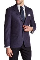 Ike Behar Notch Collar Wool Sport Coat Blue