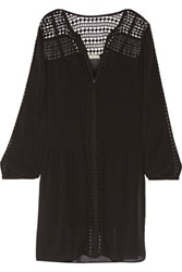 Joie Oshea Silk Chiffon Mini Dress Black