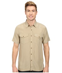 Fj Llr Ven Abisko Vent Short Sleeve Shirt Cork Men's Short Sleeve Button Up Brown