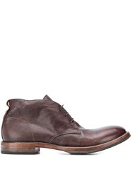 Moma Ankle Lace Up Shoes Brown