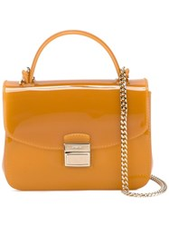 Furla Candy Sugar Crossbody Bag Yellow Orange
