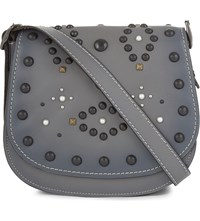 Coach 1941 Western Rivet 23 Leather Saddle Bag Bp Heather Grey