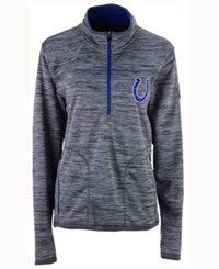 G3 Sports Men's Indianapolis Colts Fast Pace Quarter Zip Pullover Gray Royalblue