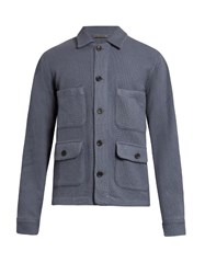 Denis Colomb Gaucho Cashmere Knitted Jacket Grey