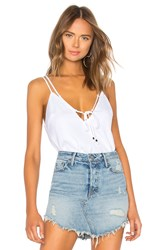By The Way Rumi Tie Front Cami Top White