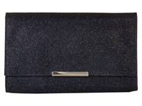 Jessica Mcclintock Nora Lurex Clutch Navy Clutch Handbags