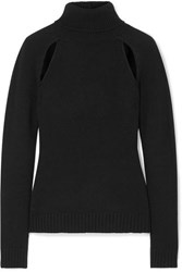 Tom Ford Cutout Cashmere Turtleneck Sweater Black