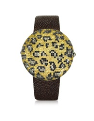 Christian Koban Clou Leopard Diamond Dinner Watch Multicolor
