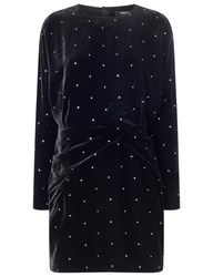 Pedro Del Hierro Black Velvet Eleodoro Mini Dress
