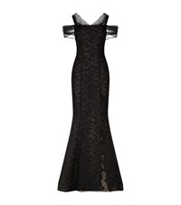 Rachel Gilbert Luella Off Shoulder Train Gown Female Black