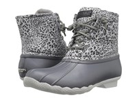 Sperry Saltwater Prints Dark Grey Cheetah Women's Rain Boots Gray