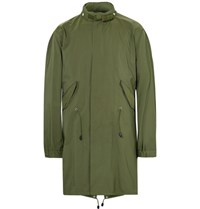 Sandro Twill Fishtail Parka Army Green