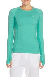 Women's Lole 'Lynn' Long Sleeve Crewneck Top Green Tropic Mix