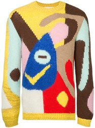 Walter Van Beirendonck Vintage Abstract Knitted Jumper Multicolour