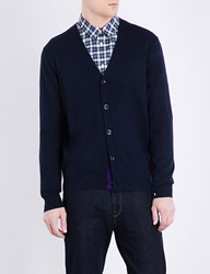 Paul Smith V Neck Wool Cardigan Navy