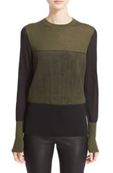 Rag And Bone Women's 'Marissa' Merino Wool Crewneck Sweater Army
