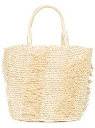 Sensi Studio Frayed Tote Nude And Neutrals