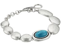 The Sak Oval Stone Line Bracelet Teal Bracelet Blue