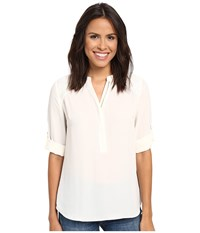 Kut From The Kloth Gael Ivory Women's Long Sleeve Button Up White