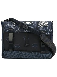 Kenzo Multi Icon Messenger Bag Blue